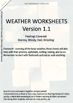 MLD - Basic Weather Worksheets - Part 2 – A4 Sized