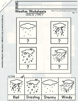 MLD - Basic Weather Worksheets - Part 2 – Letter Sized