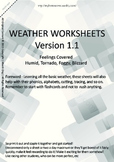 MLD - Basic Weather Worksheets - Part 3 – A4 Sized