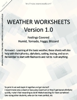 MLD - Basic Weather Worksheets - Part 3 – Letter Sized