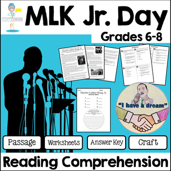 Mlk Reading Comprehension With Questions Teaching Resources