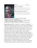 MLK Biography Worksheet