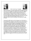 MLK Biography with Reading Comprehension Assessment