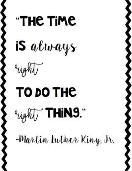 MLK Classroom Quote