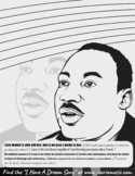 MLK Coloring Page With Inspirational Quotes
