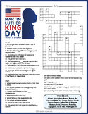 MARTIN LUTHER KING JR. Crossword Puzzle Worksheet Activity