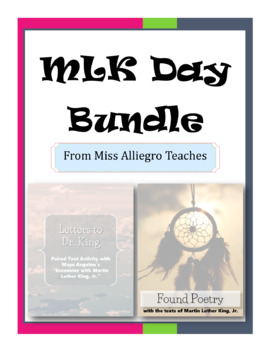 MLK Day Activity Bundle - Found Poetry & Letters to Dr. King