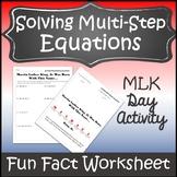 Martin Luther King Jr Math Activity {Algebra Activities} {Algebra Worksheet}