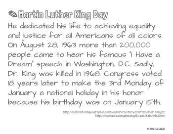 MLK Day Coloring Page for Middle School Students! The Real Number System
