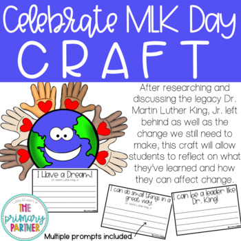 MLK Day Craft to celebrate Dr. Martin Luther King, Jr.