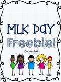 MLK Day Freebie - Upper Elementary!