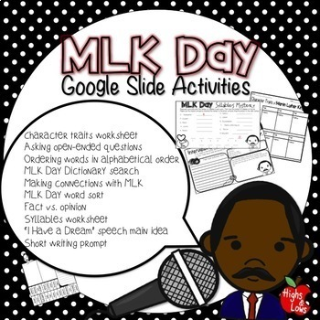 MLK Day Google Slide Activities