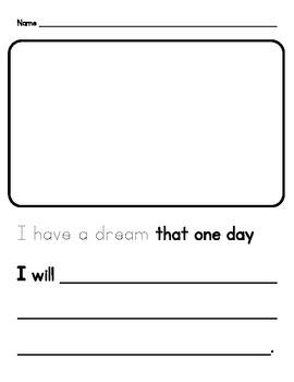 "MLK Day ""I Have a Dream"" Worksheet"