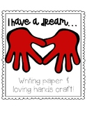 MLK Day Kindergarten Writing and Craft FREE