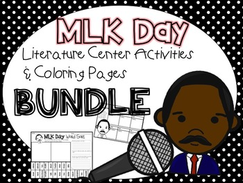 MLK Day Literature Center Activities & Coloring Pages