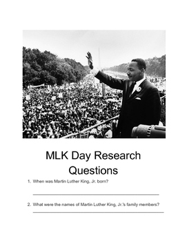 MLK Day Research Questions