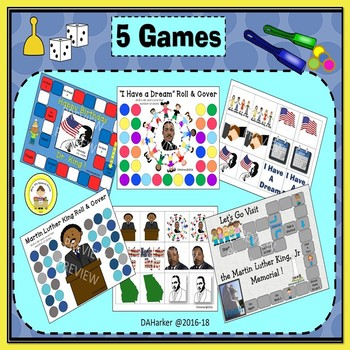 Martin Luther King Jr Day  Black History Month Speech Therapy Printable Pack