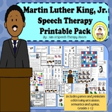 Martin Luther King Day  Speech Therapy Printable Pack