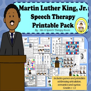 Martin Luther King Jr Day  Black History Month Speech Ther