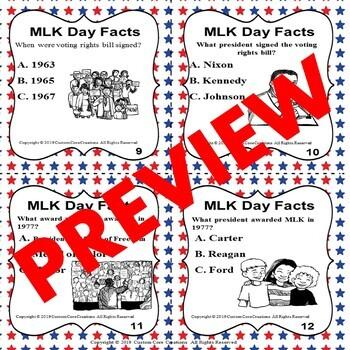 MLK Day Task Cards