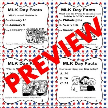 MLK Day Task Cards