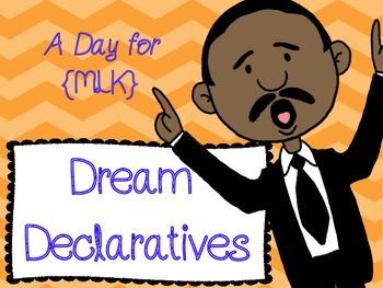 MLK Declarative Sentence Practice Worksheet {Dream Declaratives}
