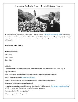 MLK: Dispelling the Single Story