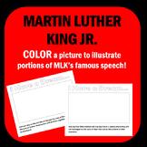 """MLK Dr. Martin Luther King Jr - Color """"I Have a Dream!"""""""