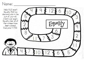 MLK {FREE} Coloring page and game!