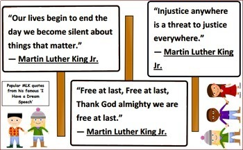 Martin Luther King Jr. Bulletin Board Set
