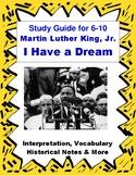 MLK I Have a Dream Speech Close Reading & Vocabulary for E