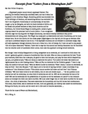 MLK I Have a Dream Speech and Letters from a Birmingham Jail