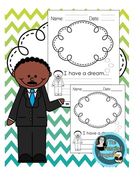 Martin Luther King Jr Activity, I Have a Dream Writing Prompt