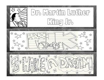 MLK Jr BOOKMARKS Martin Luther King Jr {FREEBIE}
