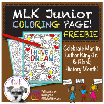 MLK Jr. Coloring Page FREEBIE!