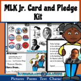 MLK Jr. Day Card and Pledge Kit! Poems, Pictures, Text, & Characters!