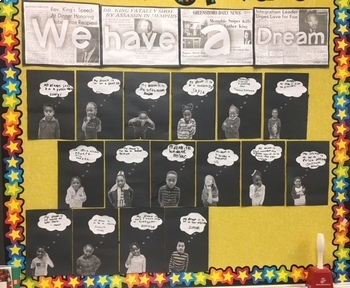"MLK Jr. Display Wall - ""We Have a Dream!"""