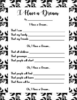 January Family Project - MLK Jr. - I Have a Dream poem