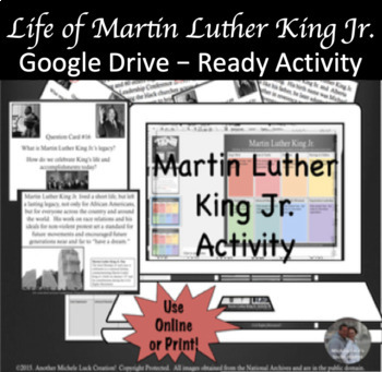 MLK Jr. Martin Luther King Jr. Google Drive Interactive Lesson