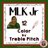 Martin Luther King Jr. Music Coloring Pages: 12 Music Color by Treble Pitch
