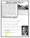 MLK Jr. Text Evidence Passage