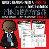 Martin Luther King Jr. Unit Guided Reading with a Purpose Text Evidence