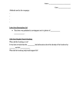 MLK Jr. and Nonviolent Resistance Guided Notes
