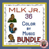 Martin Luther King Jr. Music Coloring Pages Bundle