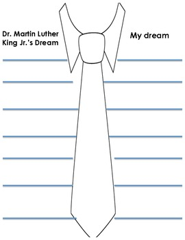 MLK Jr. tie writing prompt