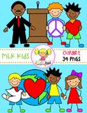 MLK Kids Clipart
