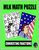 MLK MATH PUZZLE: CONVERTING FRACTIONS TO PERCENTS