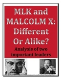 High School Martin Luther King - Malcolm X Comparison
