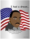 MLK, Martin Luther King Jr Day activities, Black History Month, grades 3-5