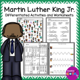 MLK Martin Luther King Jr. Differentiated Activities and Worksheets